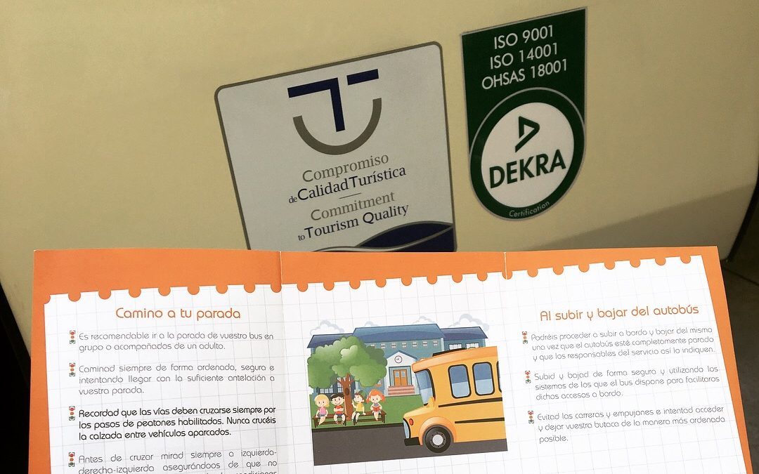 Autocares Cabranes entrega la primera edición de sus recomendaciones de seguridad y viaje para el transporte escolar