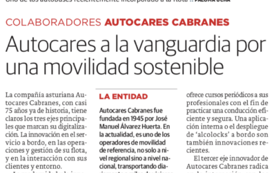 Autocares Cabranes, a la vanguardia por una movilidad sostenible