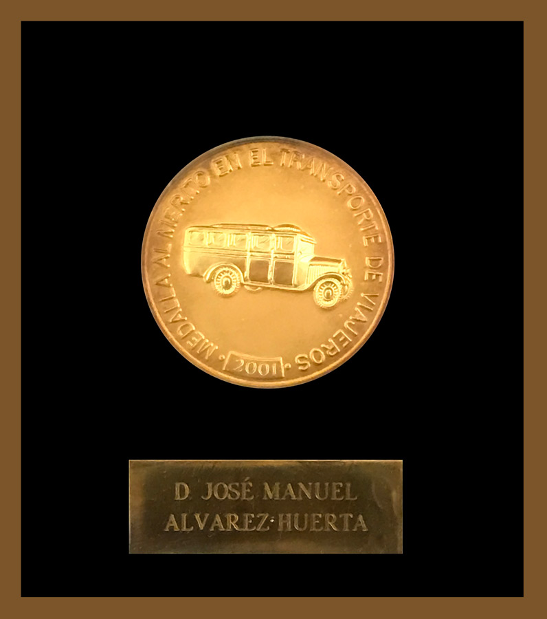 D. José Manuel Álvarez Huerta - Medal of merit in the transport of travelers