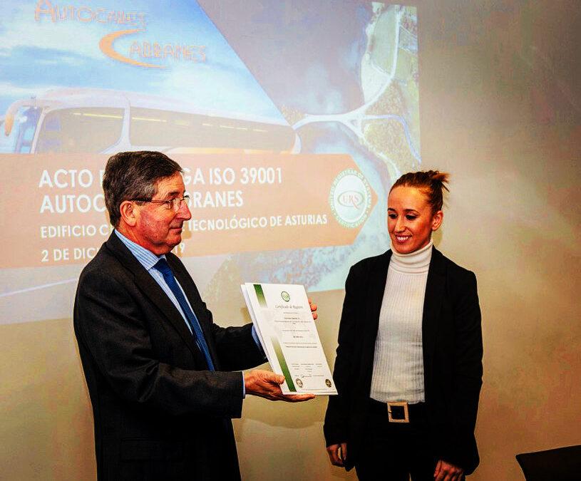 Autocares Cabranes certifica su Sistema de Gestión de la Seguridad Vial
