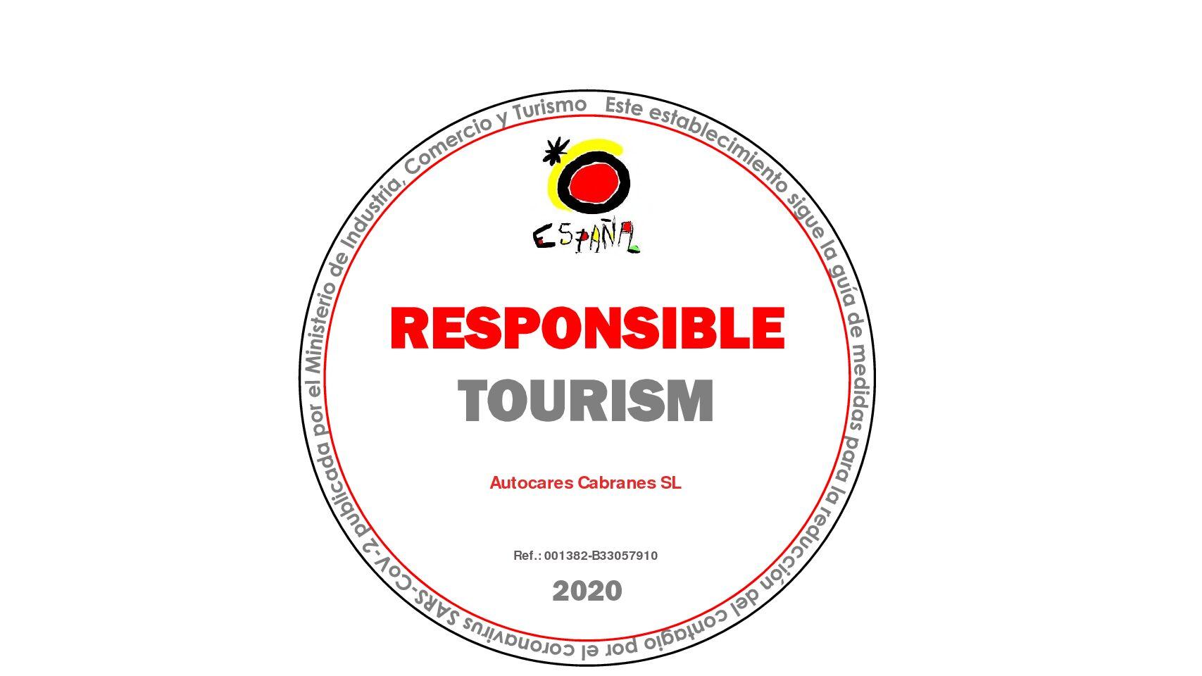 Autocares Cabranes acredita su compromiso por un Turismo Seguro