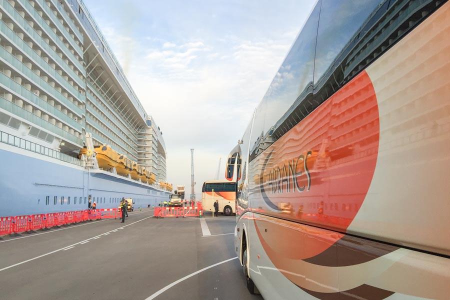 Autocares para receptivos de cruceros