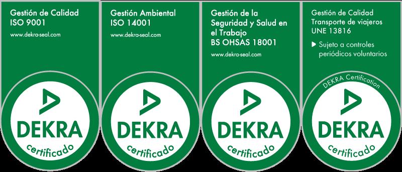 Sellos de calidad Dekra